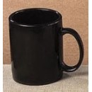 CAC China MUG-10B Stoneware Round Black 10 oz. Mug