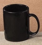 CAC China MUG-10B Stoneware Round Black 10 oz. Mug