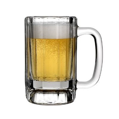 Anchor Hocking 90132  10 oz. Paneled Glass Mug