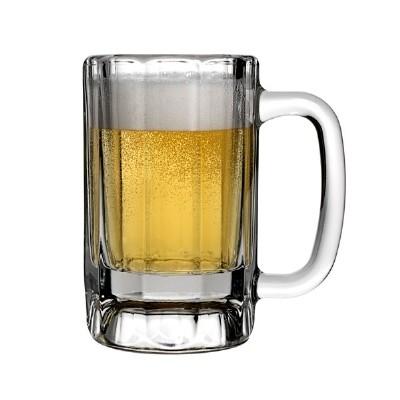 Anchor Hocking 90132  10 oz. Paneled Glass Mug