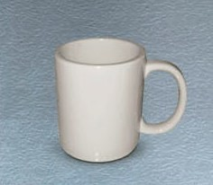 CAC China MUG-50-AW American White 10 oz. Mug