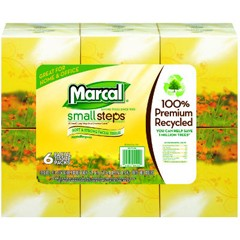 100% Recycled Facial Tissue, 2-Ply, White, 8.4 x 8.4, 80 Sheet/Box