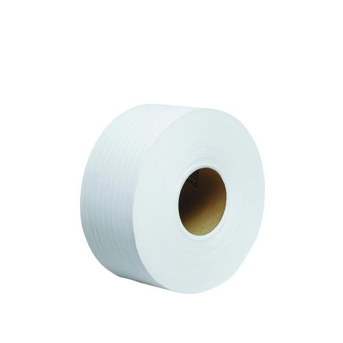 100% Recycled Fiber Jr. Jumbo Roll Bathroom Toliet Tissue, White