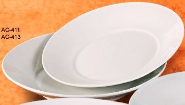 "Yanco AC-411 Abco 11 1/2"" x 2"" Salad Plate"