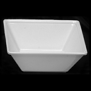 Thunder Group PS5005W Passion White Melamine 11 oz., Square Bowl 4 3/4""