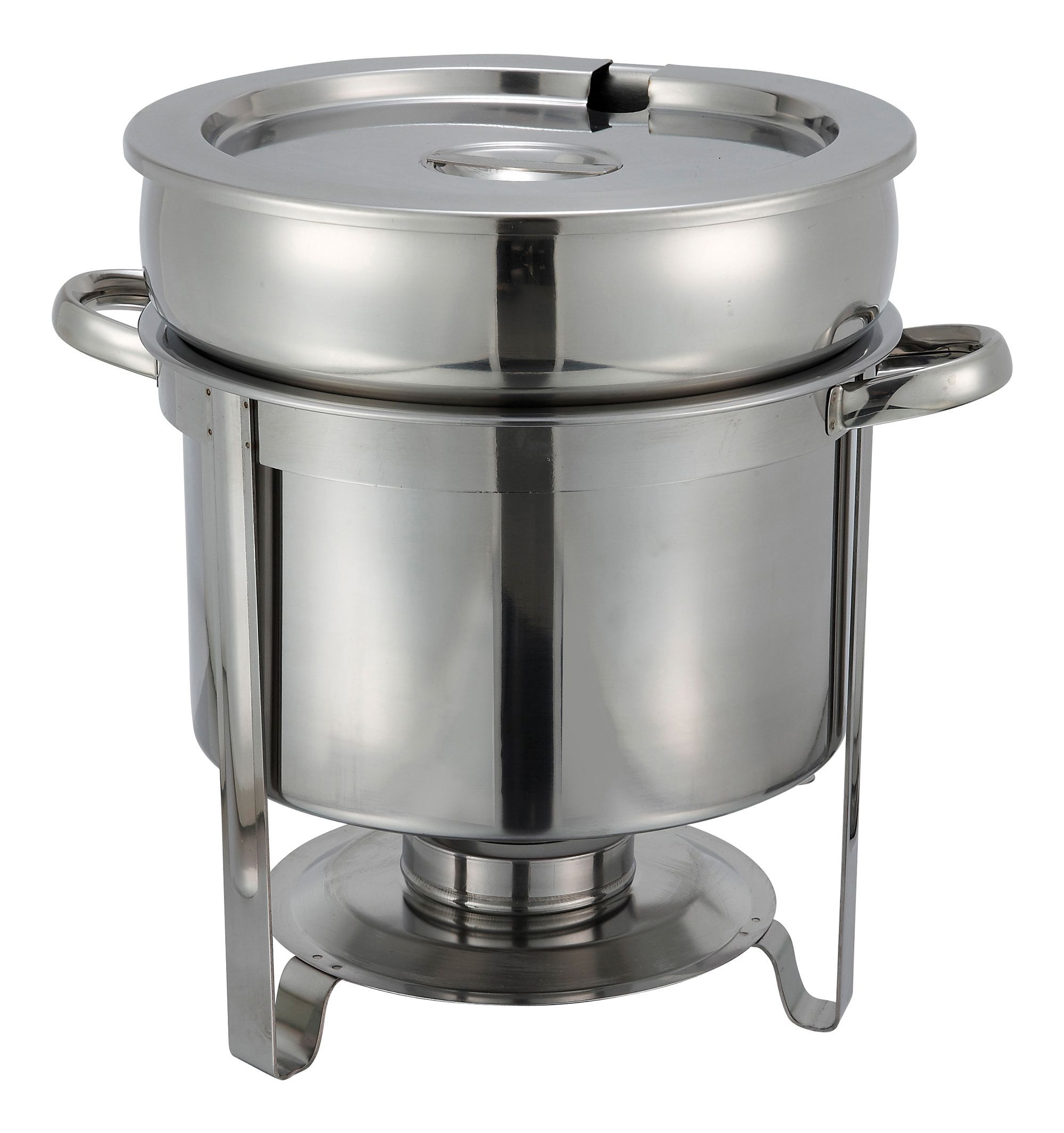 Winco 211 Stainless Steel Soup Chafer 11 Qt.