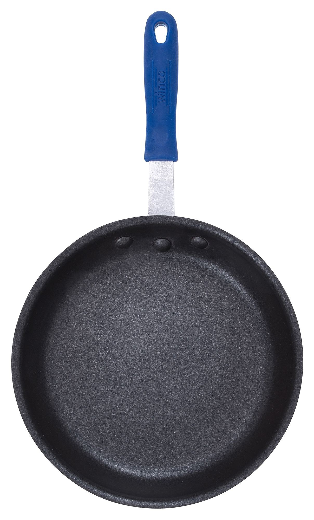 "Winco AFPI-12NH 12"" Natural Finish Non-Stick Aluminum Induction Fry Pan"