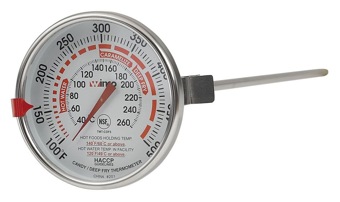 "Winco TMT-CDF5 12"" Probe Candy/Deep Fry Thermometer"
