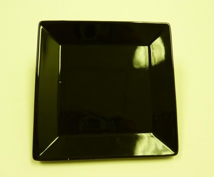 """Yanco CA-112BK Carnival Black 12"""" Square Plate"""