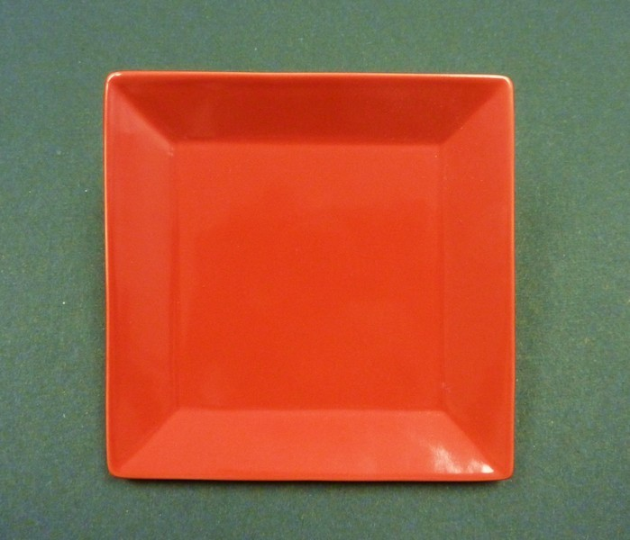 """Yanco ca-112rd Carnival Red 12"""" Square Plate"""