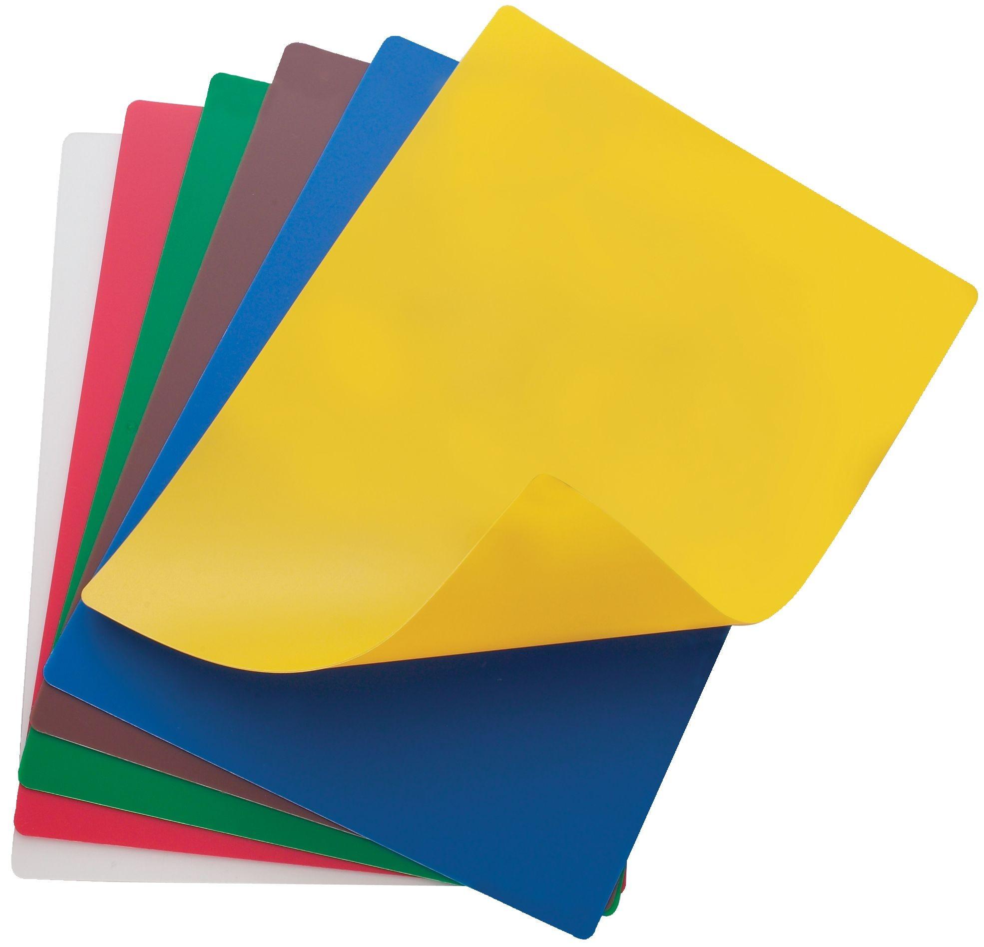 "Winco CBF-1218 Flexible Cutting Mats, Assorted Colors 12"" x 18"""