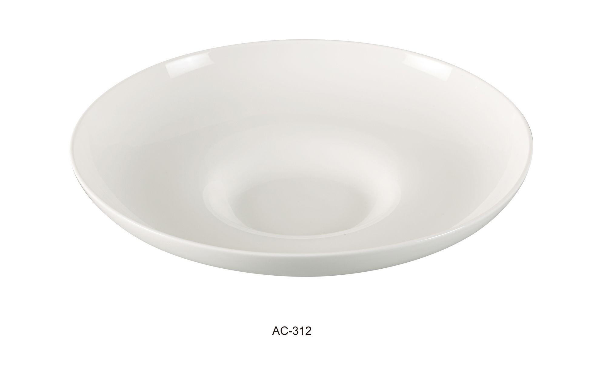 "Yanco AC-312 Abco 12"" x 2 1/2"" Mediterranean Pasta Bowl 22 oz."