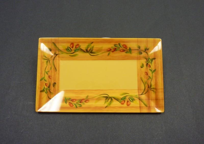 "Yanco OL-212 Olive 12"" x 7 1/2"" Rectangular Plate"