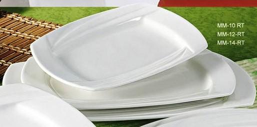 """Yanco mm-12-rt Miami 12"""" x 8"""" Rectangular Plate"""