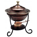 Old Dutch 840 Antique Copper over Stainless Steel Round Chafing Dish, 3 Qt.