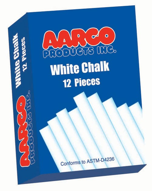 Aarco Products WCS-12 12 Boxes of White Chalk