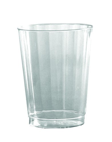 12 Oz Crystal Fluted Plastic Tumbler