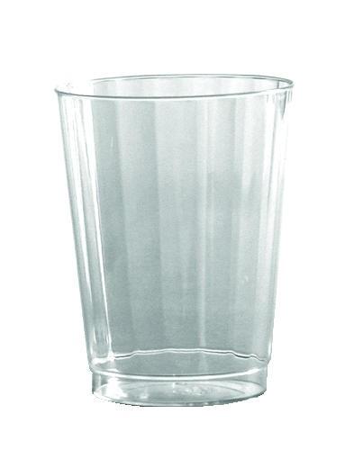 12 Oz Crystal Fluted Plastic Tumbler