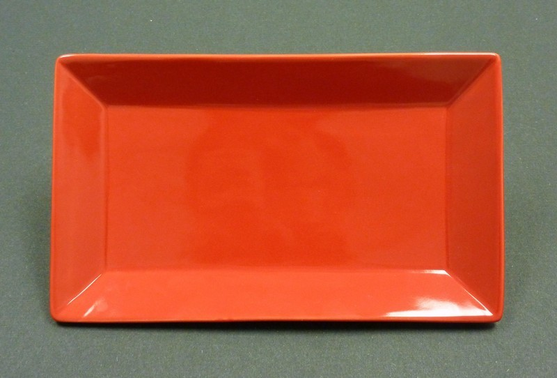 "Yanco CA-212RD Carnival Red 12"" x 8"" Rectangular Plate"