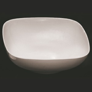 Thunder Group PS3111W Passion White Melamine 128 oz. Round Square Serving Bowl 11""