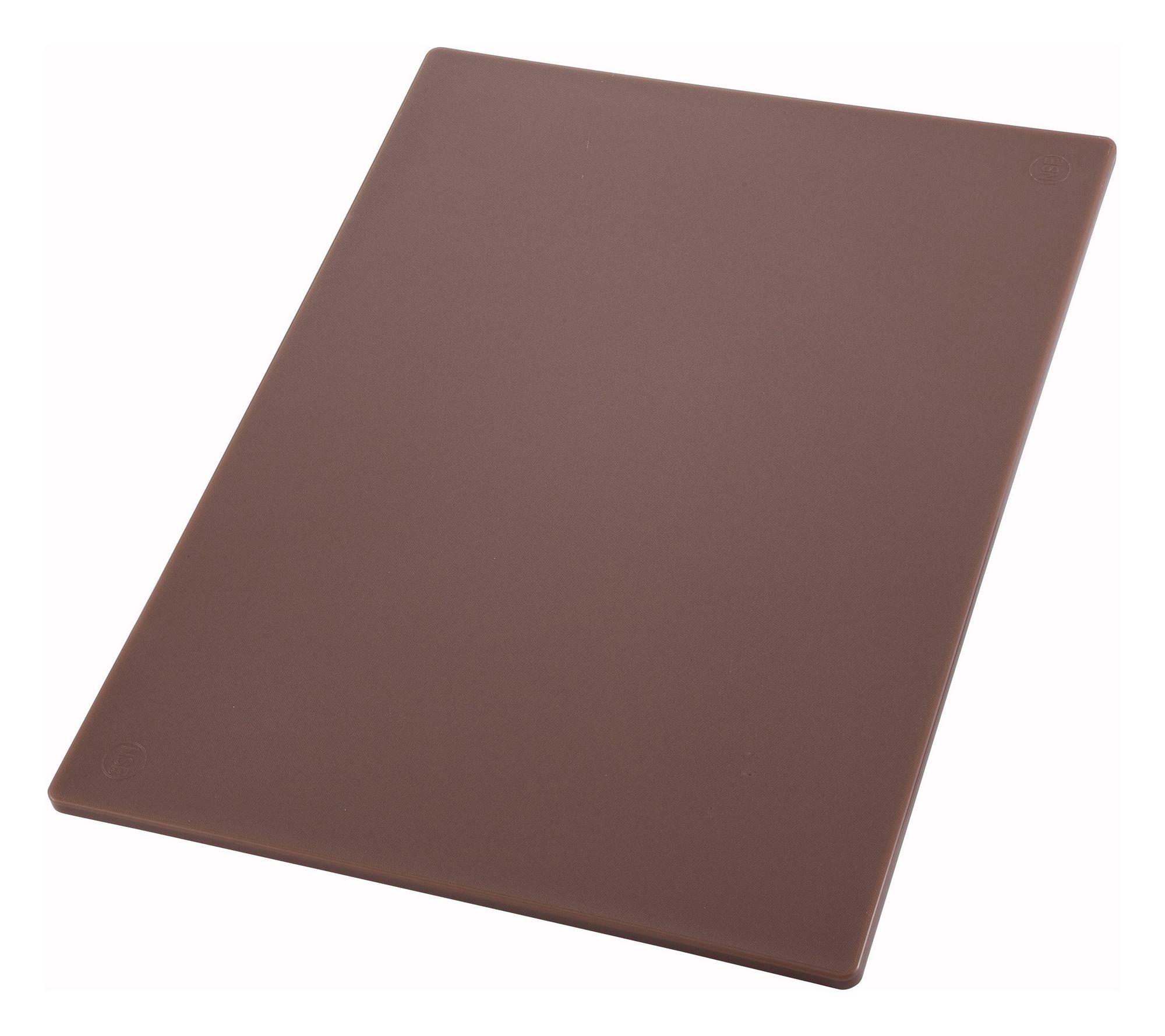 "Winco CBBN-1218 Brown Plastic Cutting Board 12""x 18"" x 1/2"""