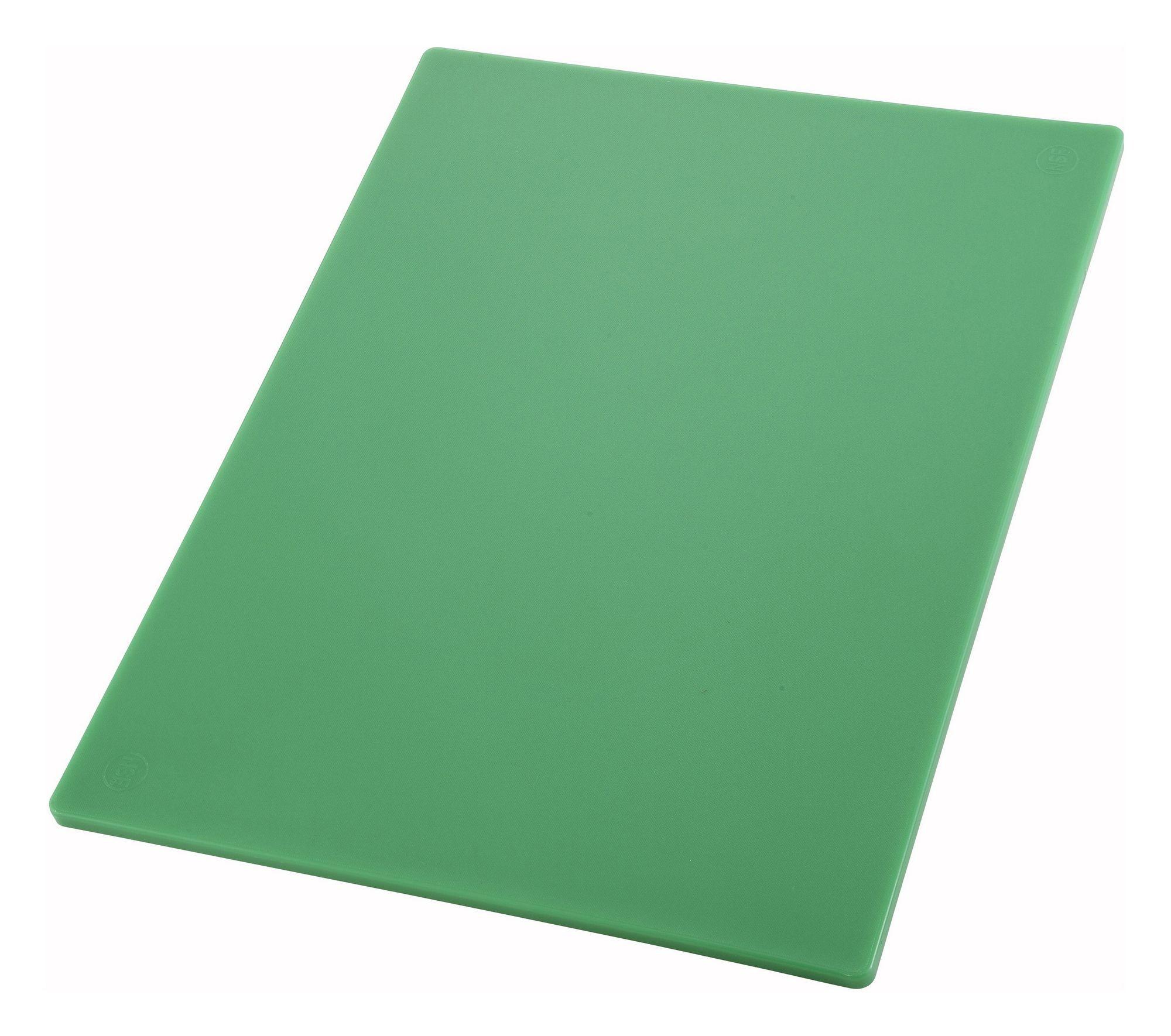 "Winco CBGR-1218 Green Plastic Cutting Board 12"" x 18"" x 1/2"""