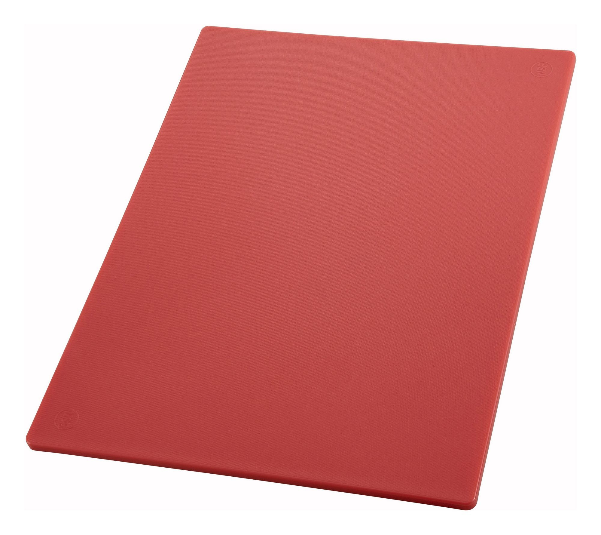 "Winco CBRD-1218 Red Plastic Cutting Board 12"" x 18"" x 1/2"""