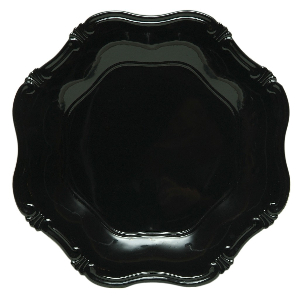 "Jay Import A275BK Black Baroque 13"" Charger Plate"