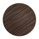 """Jay Companies 1270002 Brown Pine Faux Wood Round 13"""" Charger Plate"""