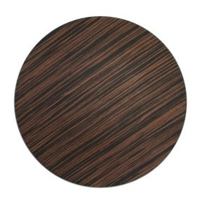 "Jay Import 1270002 Brown Pine Faux Wood Round 13"" Charger Plate"