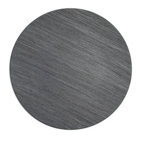 "Jay Import 1270004 Gray Pine Faux Wood Round 13"" Charger Plate"