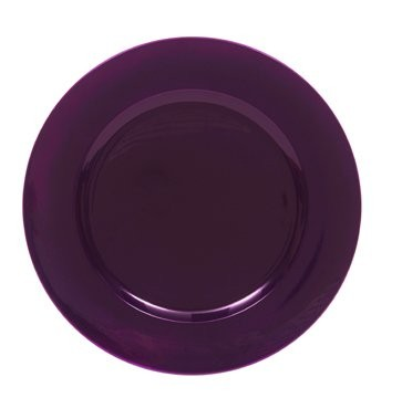 "Jay Companies 1320085 Metallic Purple Round 13"" Charger Plate"