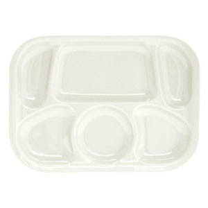 "Thunder Group ML803W White Melamine Compartment Tray, 13"" x 9-1/2"""