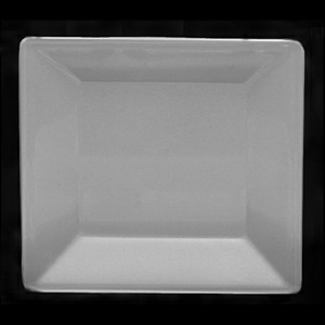 Thunder Group PS3214W Passion White Melamine Square Plate 13 3/4""