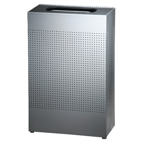 13 Gallon Waste Receptacle, Silver Metallic