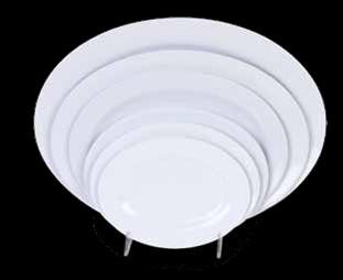 "Thunder Group 2014TW Imperial Oval Melamine Platter, 14"" x 10"