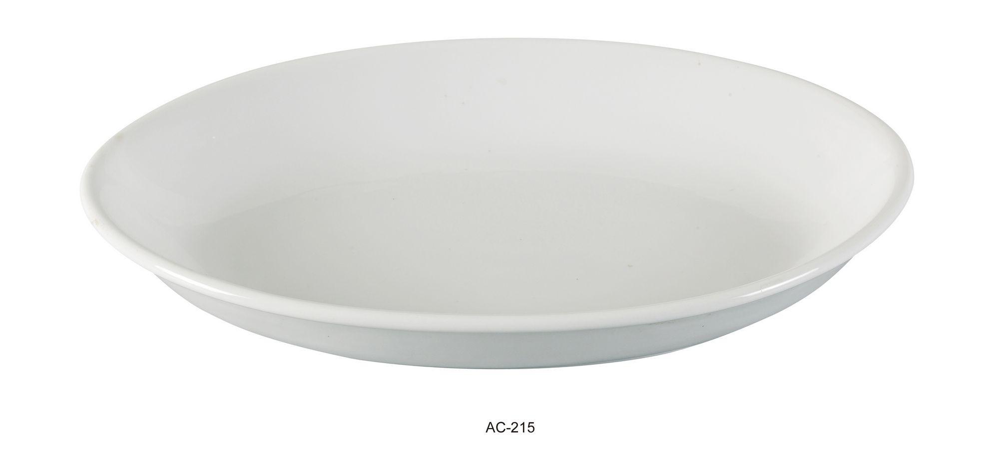 "Yanco AC-215 Abco 15 1/2"" x 11"" x 2"" Oval Deep Platter"