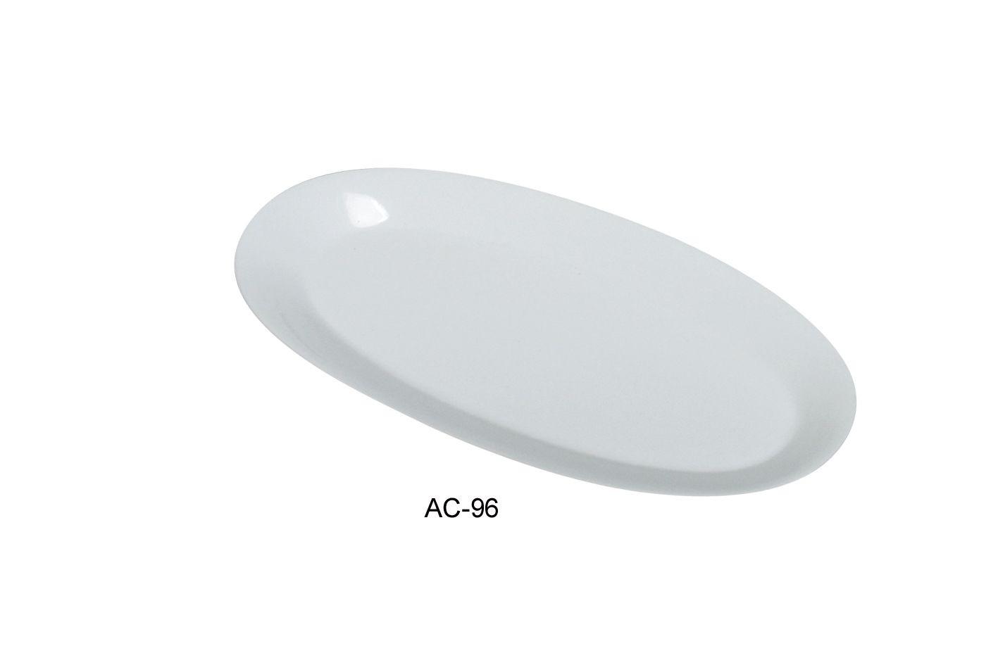 "Yanco AC-96 Abco 16"" x 7 3/4"" x 1 1/4"" Fishia Platter"