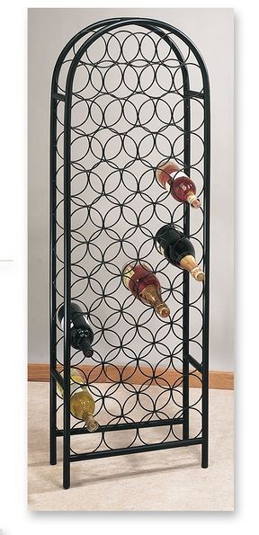 Old Dutch International 082MB 47 Bottle Matte Black Classic Arch Wine Rack