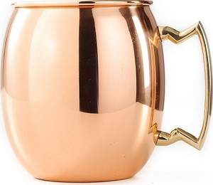 16 Oz. Solid Copper Moscow Mule Mug, W/B