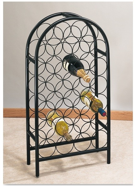 Old Dutch International 081MB 27 Bottle Matte Black Classic Arch Wine Rack