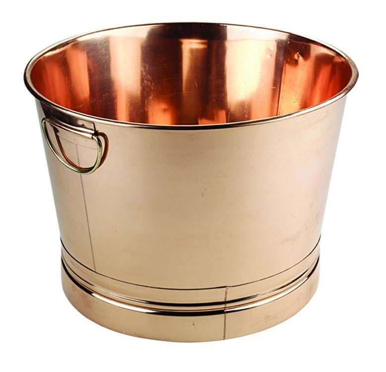Old Dutch International 878 Round Decor Copper Party Tub, 7 3/4 Gal.