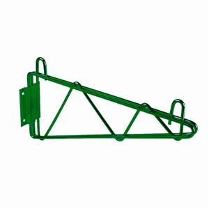 Green Epoxy Single Wall Shelf Mounting Bracket 18