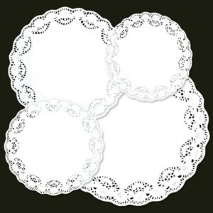 "Royal Industries RPP LD 18 18"" Lace Paper Doilies"