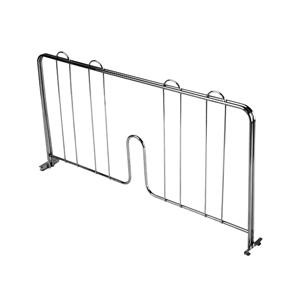Chrome Plated Pressure-Fit Shelf Divider 18''