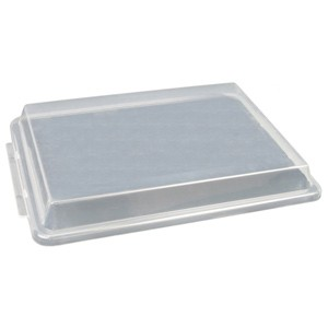 "Thunder Group PLSP1813C 18"" x 13"" Half Size Plastic Sheet Pan Cover ONLY compatible With Thundergroup half size sheet pans pans"