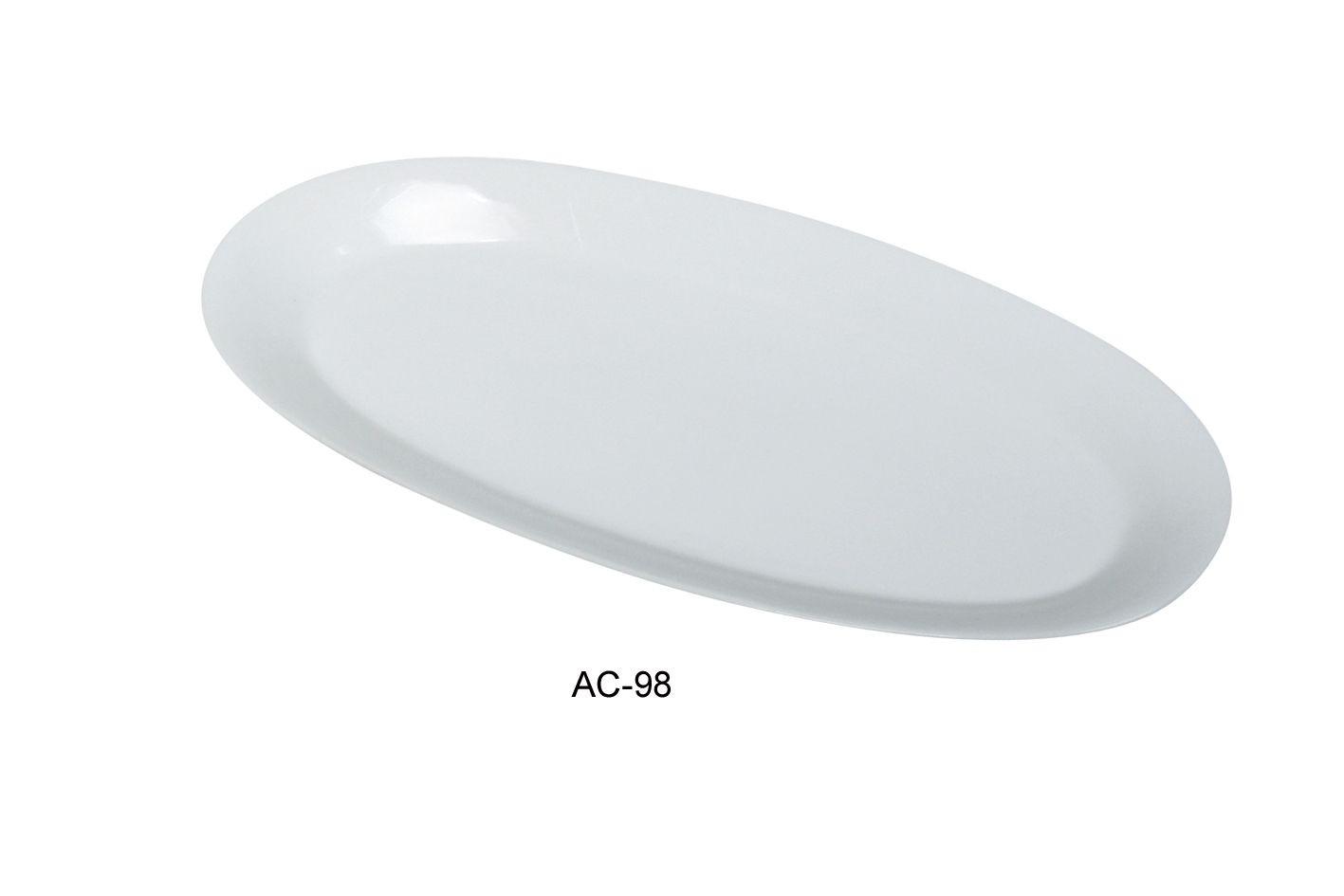 "Yanco AC-98 Abco 18"" x 8 1/4"" x 1 1/4"" Fishia Platter"