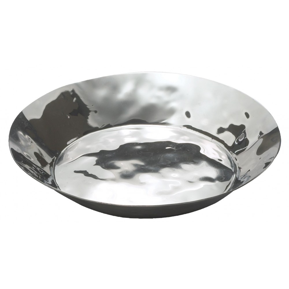 Winco HPR-10 Stainless Steel Round Display Tray, 10 1/4""
