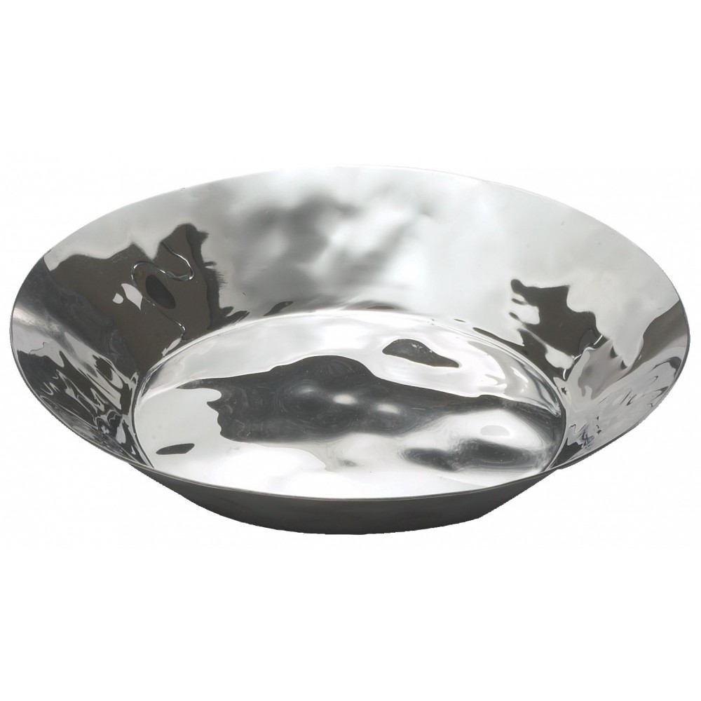 Winco HPR-8 Stainless Steel Round Display Tray, 8 7/8""