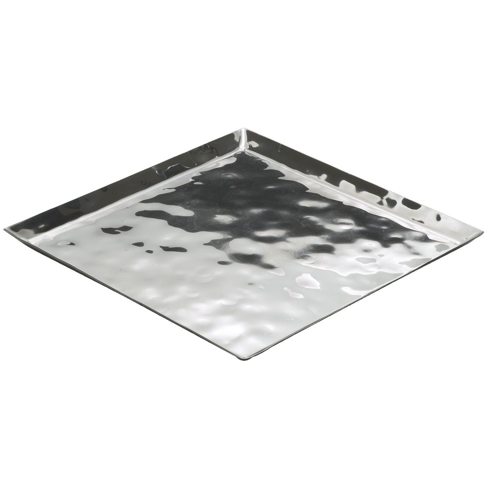 "Winco HPS-12 Stainless Steel Square Display Tray, 11 3/4"" x 11 3/4"""